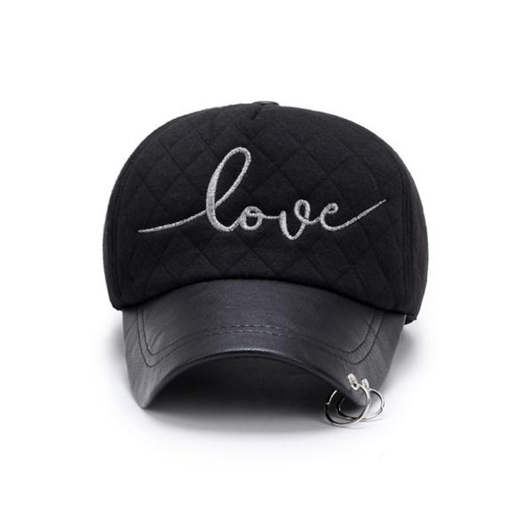 a7fff0da Accessories | Just In Black Pierced Quilted Baseball Cap | Poshmark